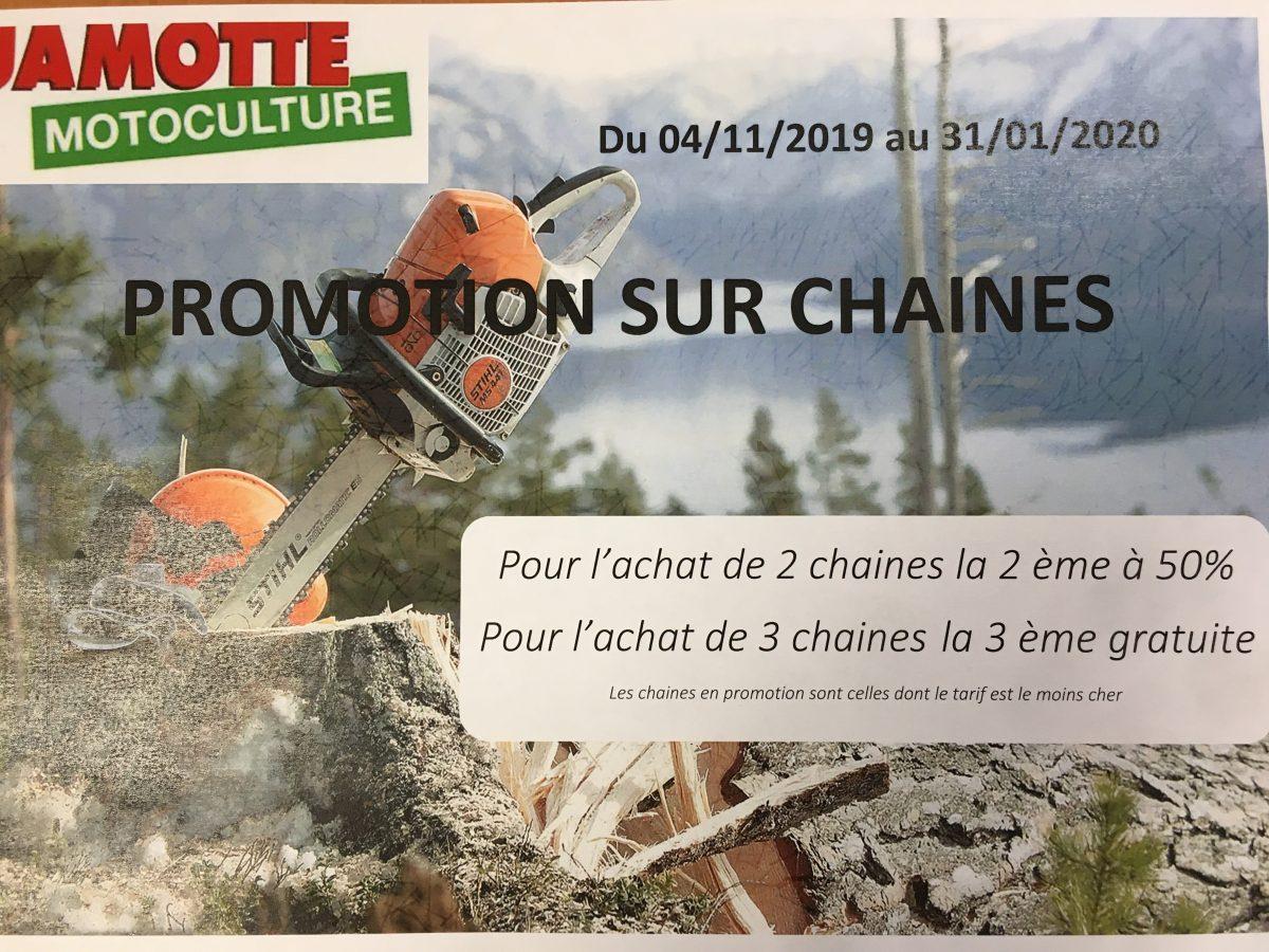 PROMOTION CHAÎNE DE TRONCONNEUSE